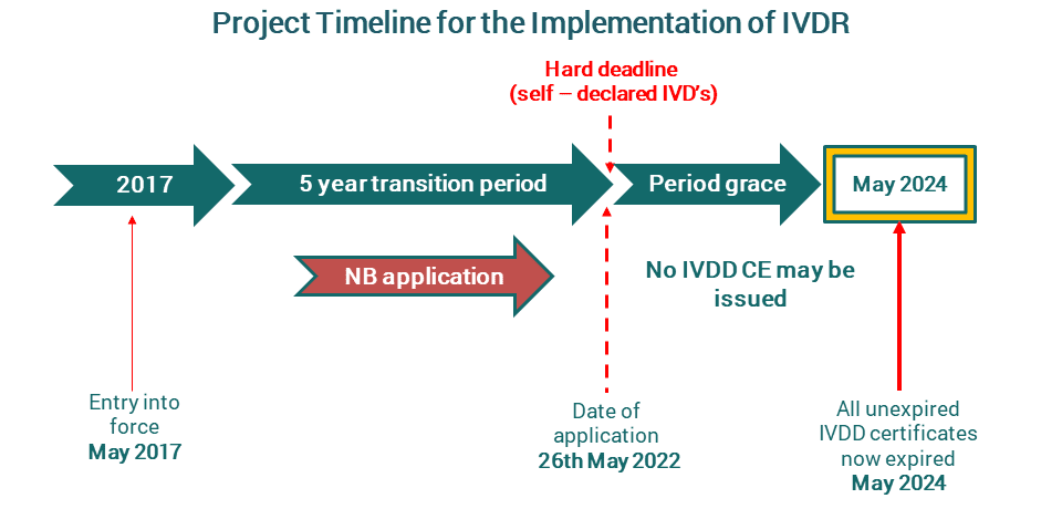 Project Timeline for the Implementation of IVDR