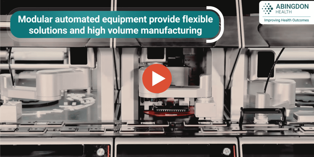 Image of a precision, high volume lateral flow rapid test manufacturing equipment