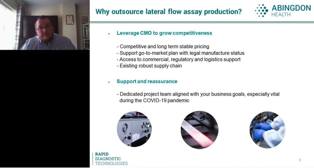 Webinar screen grab: The importance of working with your Contract Manufacturing Organisation (CMO) during product development